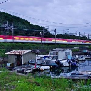 夕方の特急列車