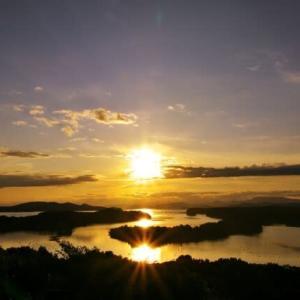 2つの夕陽 (志摩・登茂山)