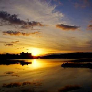 4日振りの夕陽(賢島夕陽が丘)