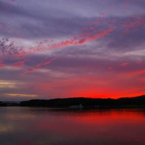 幻想的な夕空