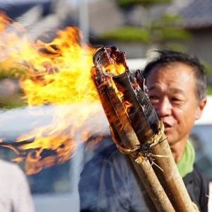 盆送り行事・灯篭焚き (志摩・立神)
