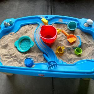 ベランダが砂場に変身!