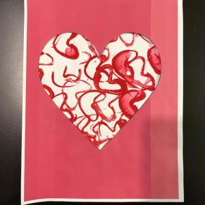 2歳の手作りバレンタインカード