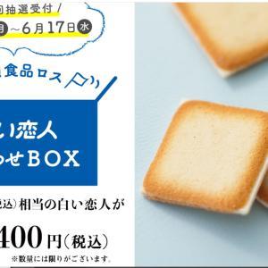 10800円→5400円【白い恋人】とWチャンスも魅力的な懸賞