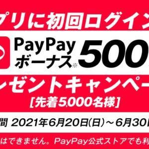 【先着5,000名様】PayPayボーナス500円相当プレゼント!登録するだけ♪