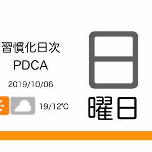 秋晴れのランニングシーズン到来![習慣化日次PDCA 2019/10/06]