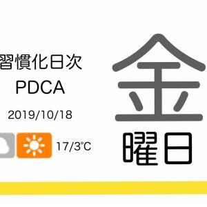 休養不足による筋肉量への影響[習慣化日次PDCA 2019/10/18]