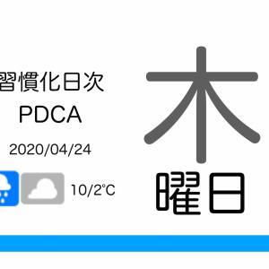 冬物の仕舞時が分からない[習慣化日次PDCA 2020/04/23]