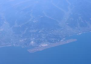 [沿線旅振り返り]飛行機から見た大分空港