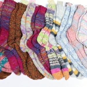 【靴下の会】今年度集まった靴下たち