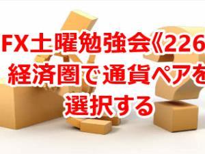 ◇土曜勉強会《226》経済圏で通貨ペアを選択する