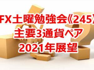 ◇FX土曜勉強会《245》主要3通貨ペア2021年展望