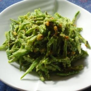 サヤインゲンのスパイス炒め/ビーンズ・ポリヤル(Beans Poliyal)