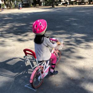 ハナ、自転車に乗れるようになりました