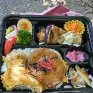 【お昼ごはん】テイクアウトで、コロッケの卵とじ丼