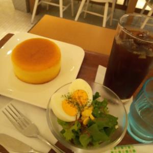 【朝ごはん】モーニング  パンケーキセット~♪