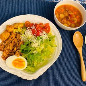 なんちゃってメキシカンライスサラダ&スープ