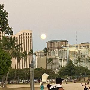 Super Moon  ハワイから