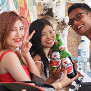 レンボンガン島でビンタンビール