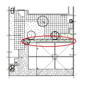 【外構エクステリア】 カーポートの後ろ側はデザイン塀