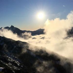 ▲燕岳・燕山荘テラスからの絶景&下山/北アルプス/2019年11月