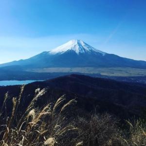 ▲石割山・どんどん富士山が大きくなる!/山梨百名山/山中湖/2019年12月