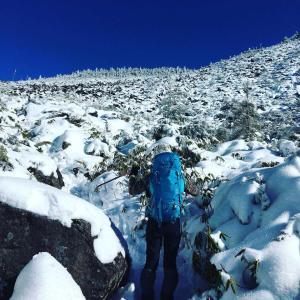 ▲雪の北八ケ岳・高見石小屋で星空ナイト/2019年12月/初冬の雪山