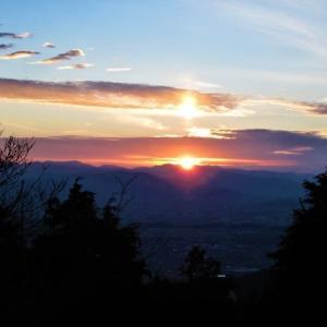 米ノ山展望台からの夕日~夜景