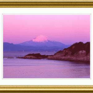 三浦半島からの夜明け富士