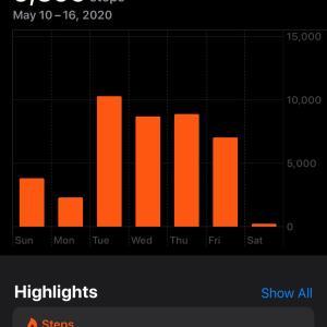 一日一万歩♪ 先週は59%まで回復。