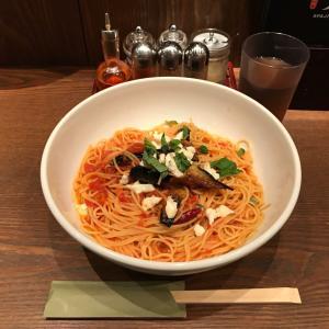 銀座スパゲッティ!「すぱじろう」でモッツァレラチーズとなすのトマトすぱ・XL(特盛)!