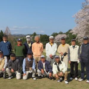 桜満開のゴルフコンペ 「相武カントリー倶楽部」