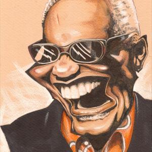 似顔絵「Ray Charles (レイ・チャールズ)さん」