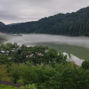会津金山町の川霧(イヴ様はでできません)