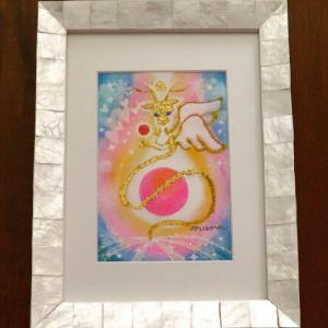 個展作品⑬『願いを叶える虹色龍 コノハナサクヤヒメ』