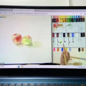 NHKオンラインで水彩画講座見てます