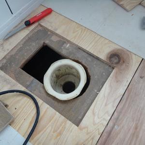 互換性がない洗濯機パンの排水トラップ