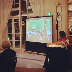 テナントオーナー様お集まりの新年会にてサンドアート披露させて頂きました*.+゚