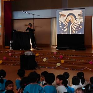 長崎県佐世保市・九州文化学園幼稚園にてサンドアート披露させて頂きました!
