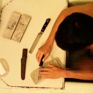 お風呂で至福のナイフ研ぎ