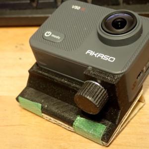 アクションカメラ+ダンボール+3Dプリンターで取り付け自由自在!