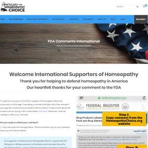 緊急!米国FDAによるホメオパシー規制の動き・・