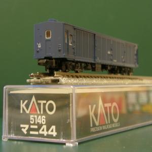 新規入線車両(KATO・マニ44形)。