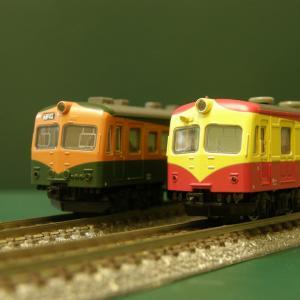 「70系電車」と「80系電車」を並べてみた。