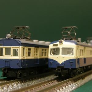 新規入線車両(KATO 飯田線荷物電車2両セット)。