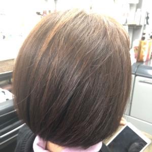 お手入れしやすいボブカットからの  頭皮・髪に優しいカラー