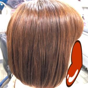 イチゴカラーとヘナトリートメントで  細い髪もコシ・ツヤがでるよ!