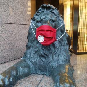 ライオンのマスク…