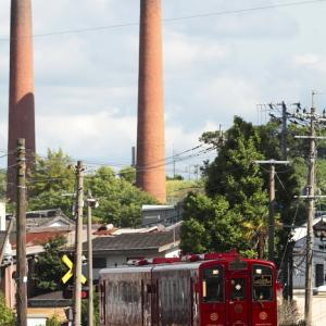 旧三井伊田坑の二本煙突