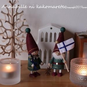【X'masインテリア】北欧雑貨で作るクリスマスデコレーション!サイズ違いを並べて冬の森♪